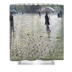 Study For A Paris Street Rainy Day Shower Curtain by Gustave Caillebotte