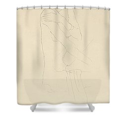 Study For Adele Bloch Bauer II Shower Curtain by Gustav Klimt