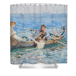 Study For August Blue Shower Curtain