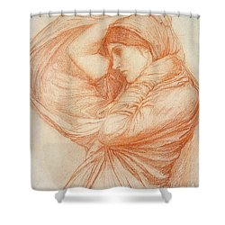 Study For Boreas Shower Curtain by John William Waterhouse