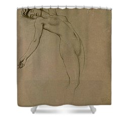 Study For Clyties Of The Mist Shower Curtain by Herbert James Draper