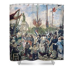 Study For Le 14 Juillet 1880 Shower Curtain by Alfred Roll