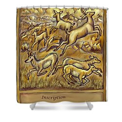 Study For Pronghorn And Deer Sculpture Shower Curtain by Dawn Senior-Trask