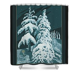 Shower Curtain featuring the painting Study For Winter Trees Of Life 299 by William Hart McNichols