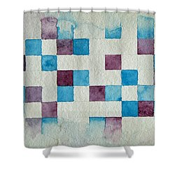 Study In Blue And Violet Shower Curtain