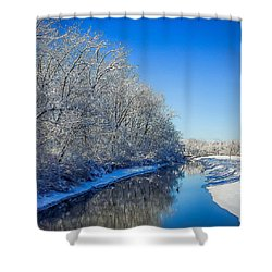 Shower Curtain featuring the photograph Study In Blue by Kendall McKernon