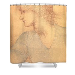 Study In Colored Chalk Shower Curtain by Sir Edward Burne-Jones