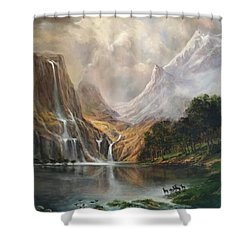 Shower Curtain featuring the painting Study In Nature by Donna Tucker