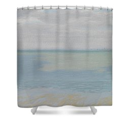 Study Of Sky And Sea Shower Curtain by Herbert Dalziel