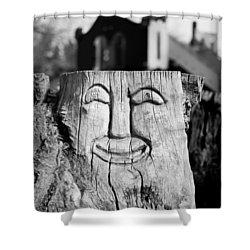 Stump Face 1 Shower Curtain