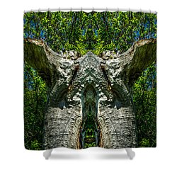 Stumped Shower Curtain