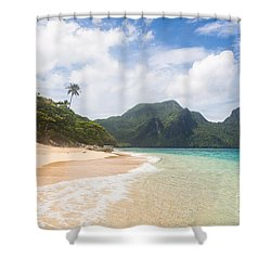 Stunning Beach In El Nido In The Philippines Shower Curtain