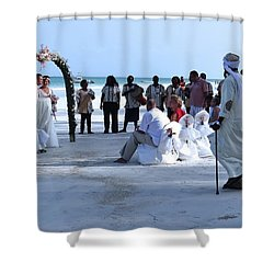 Stunning Kenya Beach Wedding Shower Curtain