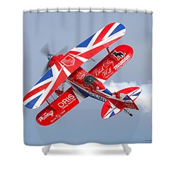 Stunt Plane Shower Curtain by Roy  McPeak