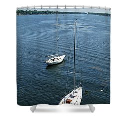 Shower Curtain featuring the photograph Sturgeon Bay Canal by David T Wilkinson