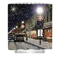 Sturgeon Bay On A Magical Night Shower Curtain