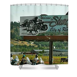Sturgis City Of Riders Shower Curtain