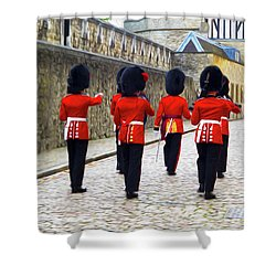 Step Aside For The Tower Guard Shower Curtain