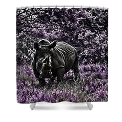 Styled Environment-the Modern Trendy Rhino Shower Curtain
