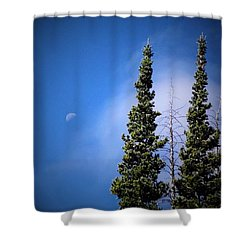 Subalpine Fir With Moon Shower Curtain