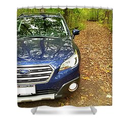Shower Curtain featuring the photograph Subaru Touring Off The Beaten Path by Ricky L Jones