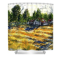 Suber Road Barns Shower Curtain