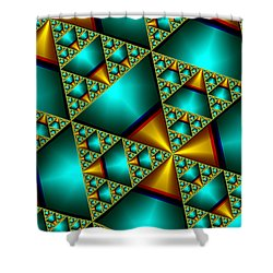Shower Curtain featuring the digital art Sublime Sierpinski Fractal by Manny Lorenzo