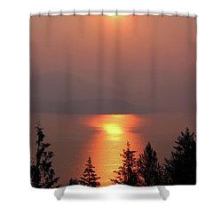 Sublime Sunrise Shower Curtain