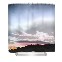 Submarine In The Sky Shower Curtain
