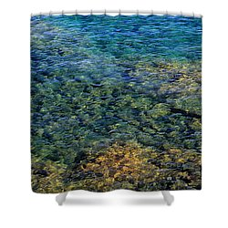 Submerged Rocks At Lake Superior Shower Curtain