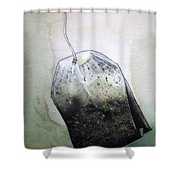 Submerged Tea Bag Shower Curtain