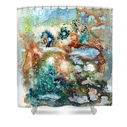 Subterranean Pond Shower Curtain