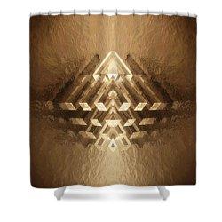 Subtle Geometrix Shower Curtain