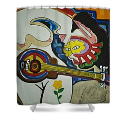 Subtle Love Shower Curtain by Jose Rojas