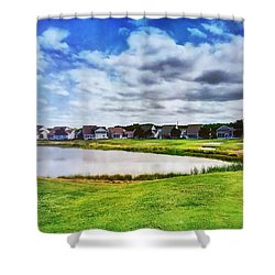 Suburbia Shower Curtain