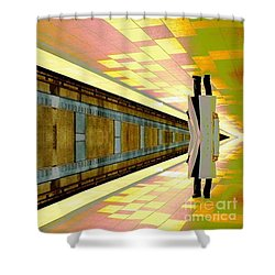 Subway Man Shower Curtain