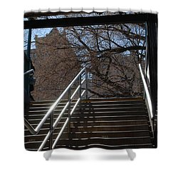 Subway Stairs Shower Curtain by Rob Hans