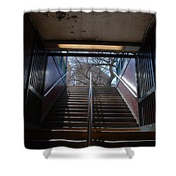 Subway Stairs To Freedom Shower Curtain by Rob Hans