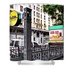 Subway Station Entrance In Buenos Aires Shower Curtain