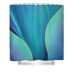 Shower Curtain featuring the painting Succulent Embrace by Sandi Whetzel