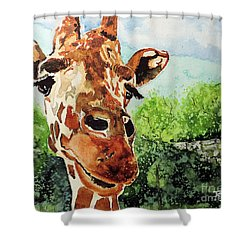 Such A Sweet Face Shower Curtain by Tom Riggs