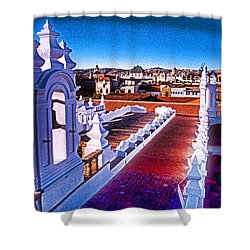 Sucre Convent Shower Curtain by Dennis Cox WorldViews