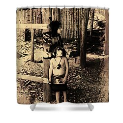 Shower Curtain featuring the photograph Sucua Kids 895 by Al Bourassa