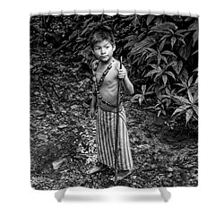 Shower Curtain featuring the photograph Sucua Kids 898 by Al Bourassa