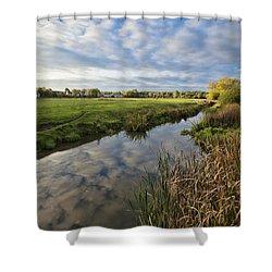 Sudbury River Shower Curtain by Ian Merton