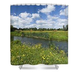 Sudbury Summer Meadows Shower Curtain by Ian Merton