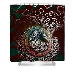 Shower Curtain featuring the digital art Sudden Outburst by Anastasiya Malakhova