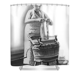 Shower Curtain featuring the painting Suds In The Bucket by Ferrel Cordle