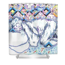 Suenos De Invierno Winter Dreams Shower Curtain