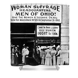 Suffrage Headquarters Shower Curtain by Granger